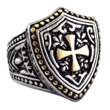 Heater Shield Men's Stainless Steel Cross Ring