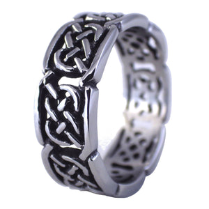 Celtic Knot Wedding Band - Stainless Steel Ring