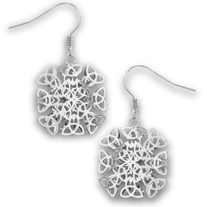 Surgical Steel Celtic Triquetra Trinity Knot Earrings