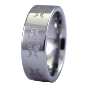 Men's Air Elemental Tungsten Ring - LARP, RPG, Fantasy Cosplay Jewelry