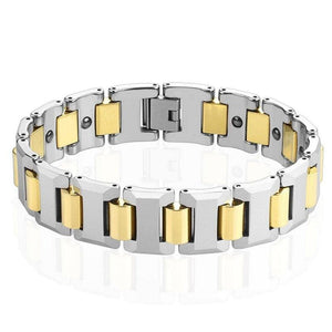 Mens Magnetic Classic Gold Tungsten Bracelet