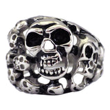 Men's Stainless Steel Skull Ring - Breaking Out of Your Soul