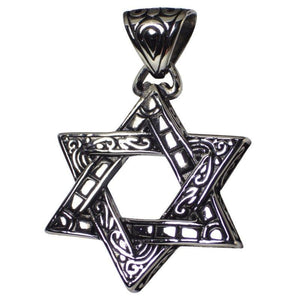 Men's Star of David Stainless Steel Pendant Necklace 1