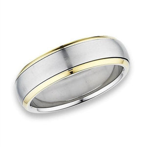 Minimalist Spinner Ring Gold Stainless Steel Modern Anti-Anxiety Band
