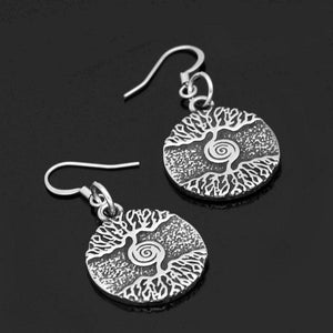 Norse Yggdrasil Earrings Stainless Steel Viking Tree of life Dangle Drops
