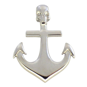 Pirate Skull Anchor Necklace Stainless Steel Pendant