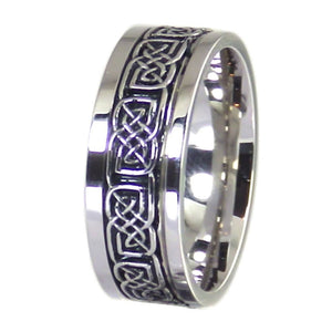 Silver Celtic Knot Stainless Steel Spinner Ring