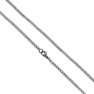 Silver Stainless Steel Tight Link Curb Chain Necklace 2.7mm
