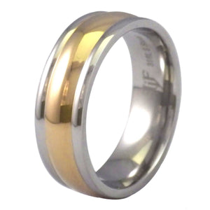 Two-Tone Gold Stainless Steel Wedding Ring