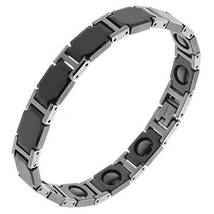 Victorian Style Black Ceramic Tungsten Magnetic Bracelet 10mm