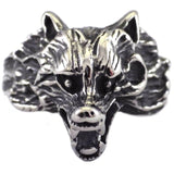 Werewolf Theme Stainless Steel Men's Wolf Ring