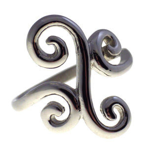 Women's Filigree Swirl Stainless Steel Ring