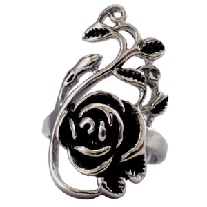 Women's Rose and Vine Stainless Steel Ring