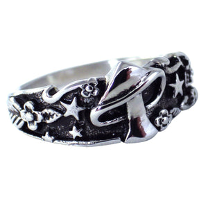 Women's Stainless Steel Fantasy Fairy Mushroom Ring