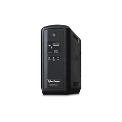 CyberPower CP1000PFCLCD UPS 1000VA 600W PFC compatible Pure sine wave - 1000VA/600W - Mini-tower - 3 Minute Full Load - 10 x NEMA 5-15R 10 OUT 15A LCD AVR RJ11/45/COAX 3YR