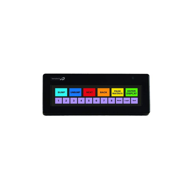 Logic Controls Kb1700U-Dp-Bk Kb1700 Bump Bar, Usb, Legend Sheet Dp, Black (Touch Screen)