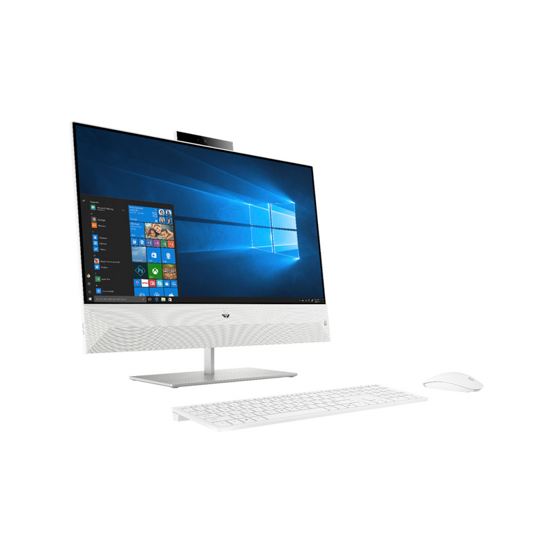 "HP - Pavilion 23.8"" Touch-Screen All-In-One - Intel Core i5-8400T - 12GB Memory - 256GB Solid State Drive - Snowflake White"
