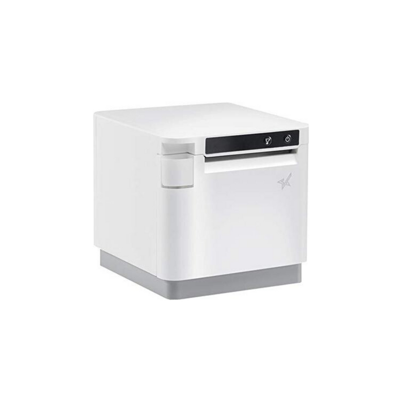 "Star Micronics, mC-Print3, Thermal, 3"", Ethernet (LAN), USB, Lightning, Bluetooth, CloudPRNT, Peripheral Hub, White, Ext PS Included"