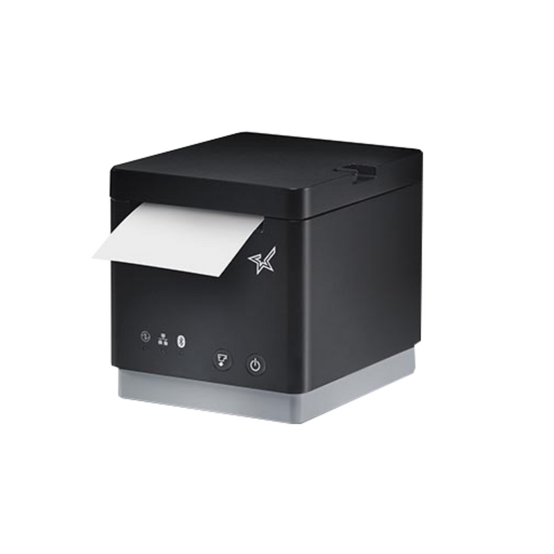 "Star Micronics, mC-Print3, Thermal, 3"", Ethernet (LAN), USB, Lightning, Bluetooth, CloudPRNT, Peripheral Hub, Black, Ext PS Included"