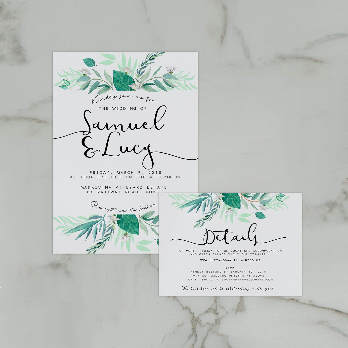 ITALIAN WEDDING INVITE/INFORMATION SET