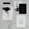 WATERCOLOUR WEDDING INVITE SET BLACK