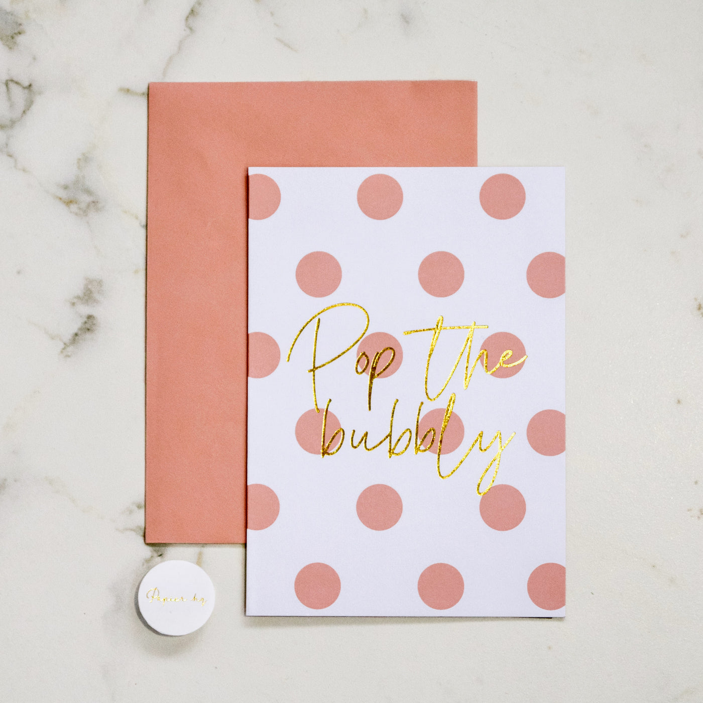 POP THE BUBBLY GREETING CARD