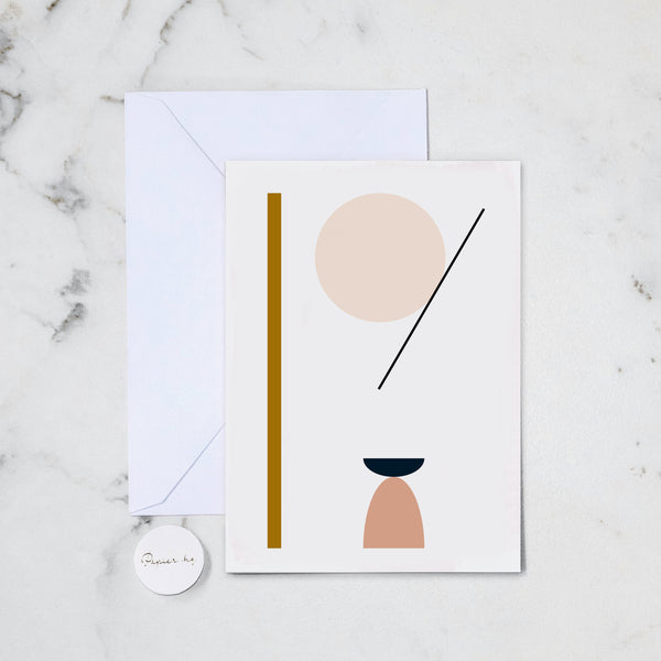 SHAPE ABSTRACT GREETING CARD