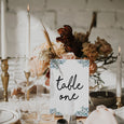 BOHO WEDDING TABLE NUMBER