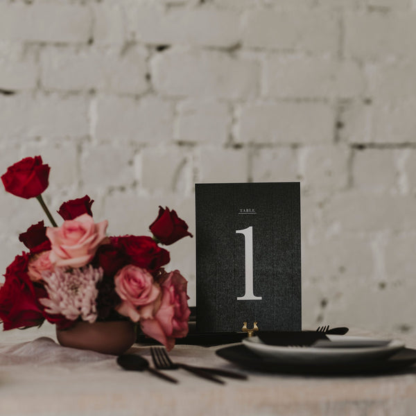 WATERCOLOUR TABLE NUMBER BLACK