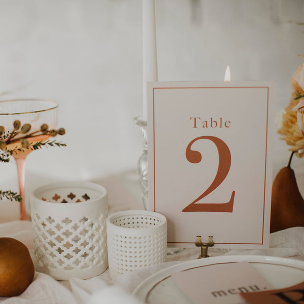 INITIAL TABLE NUMBER ORANGE/PINK