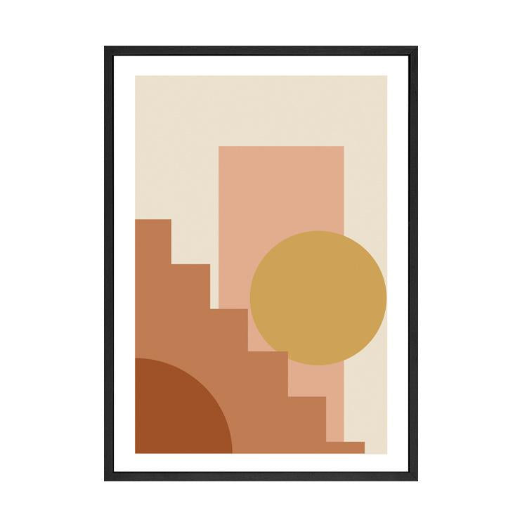 STAIRS TO NOWHERE PRINT ORANGE
