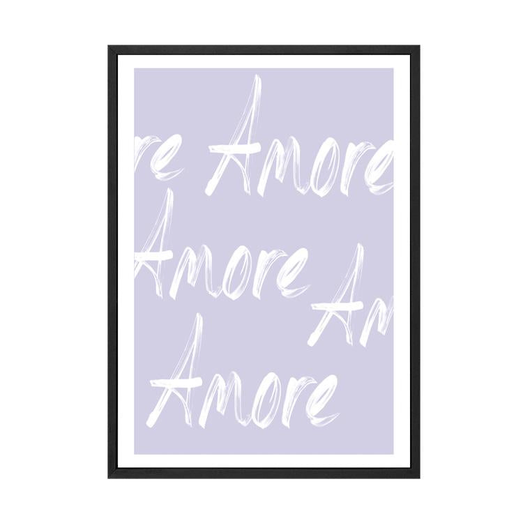 AMORE LOVE PRINT / LILAC