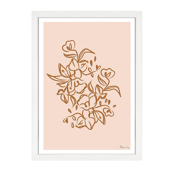PAINTED FLOWER PRINT ORANGE