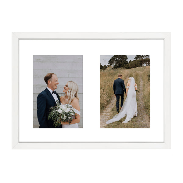 CUSTOM DOUBLE PHOTO AND FRAME WITH BORDER
