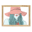 GIRL WITH A HAT PRINT
