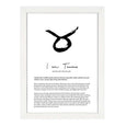 TAURUS STAR SIGN PRINT