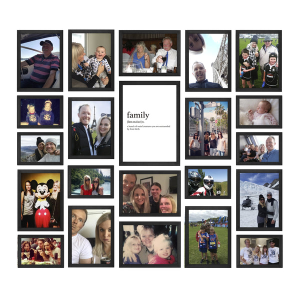 COLOUR FAMILY PHOTO GALLERY WALL
