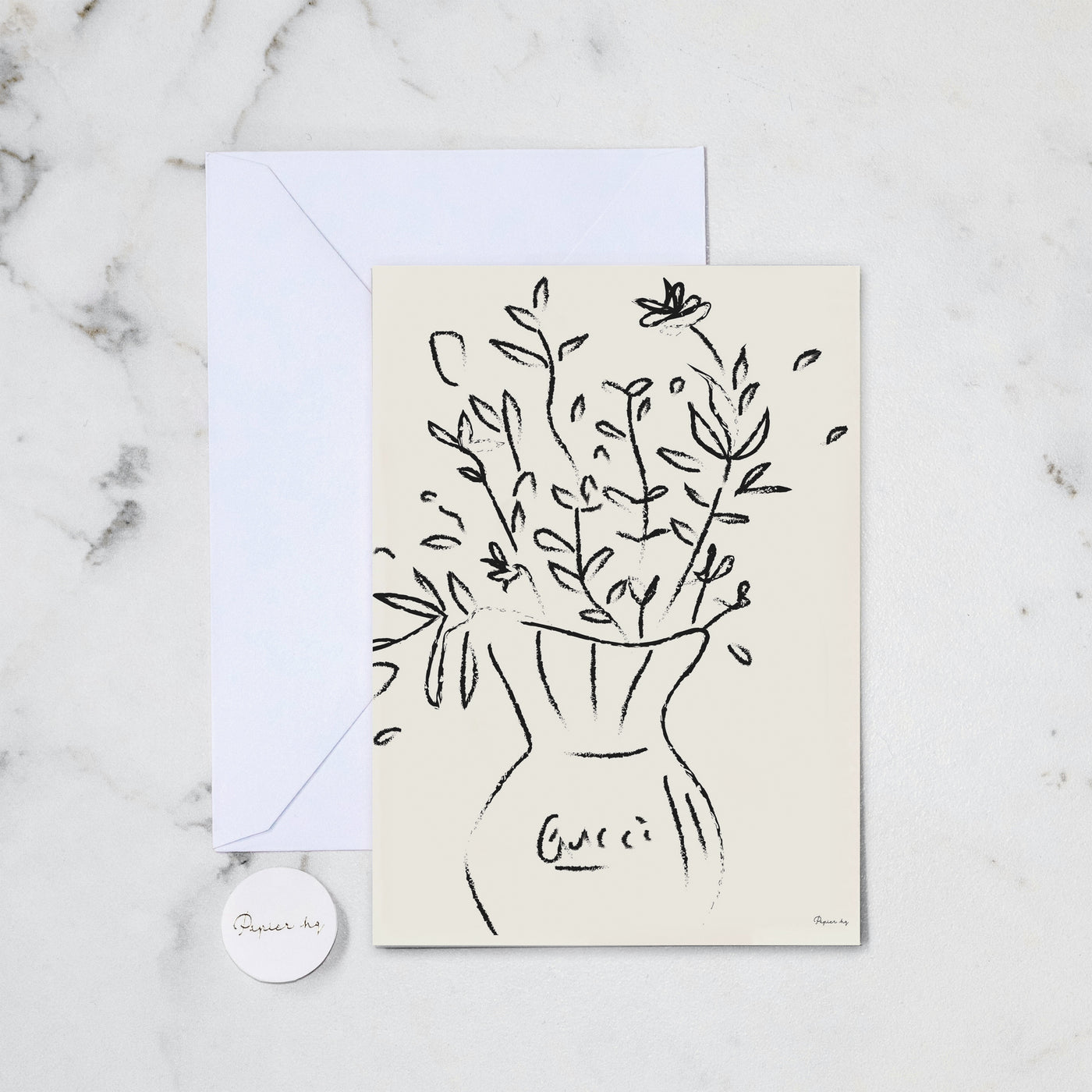 GUCCI FLOWERS GREETING CARD