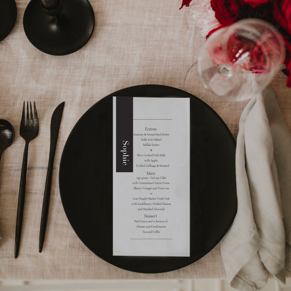 BRANDY WEDDING MENU & PLACE NAME SET