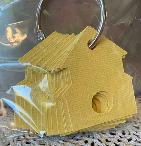 Light Yellow Houses Thread Drops