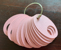 Pale Pink Oval Thread Drops