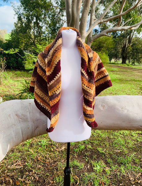 Autumnal Crocheted Shawl