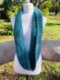 Blue Knitted Cowl