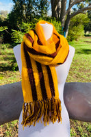 Gold and Maroon coloured scarf