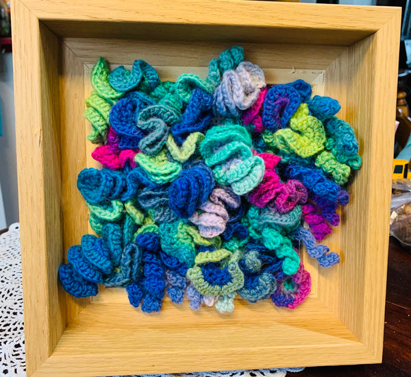 Free Form Crochet Box Hanging