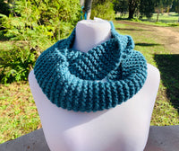 Knitted Blue Cowl