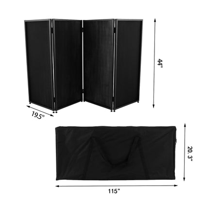 Event Facade White/black Scrim Metal Frame Booth+travel Bag Led 17.7