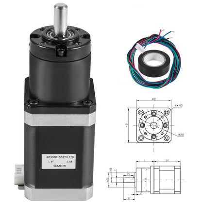 6v 17 Schrittmotor Planetary 1.5a 4 Lead Reduction Ratio 1: 139