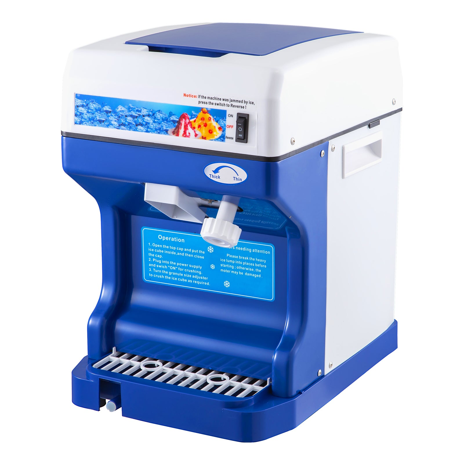 Ice Shaver Snow Cone Frozen Ice Shaving Slushie Maker Commercial Machine