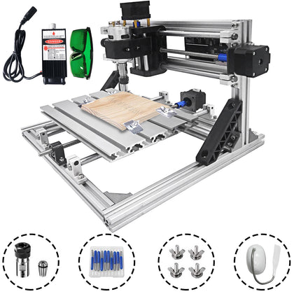 3 Axis Cnc Router Kit 2418 With 500mw Graveur Spritzgussmaterial Gravieren